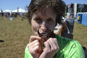 Christine and her medal